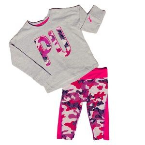 Toddler PUMA Gray & Pink 2pc Outfit - 2T
